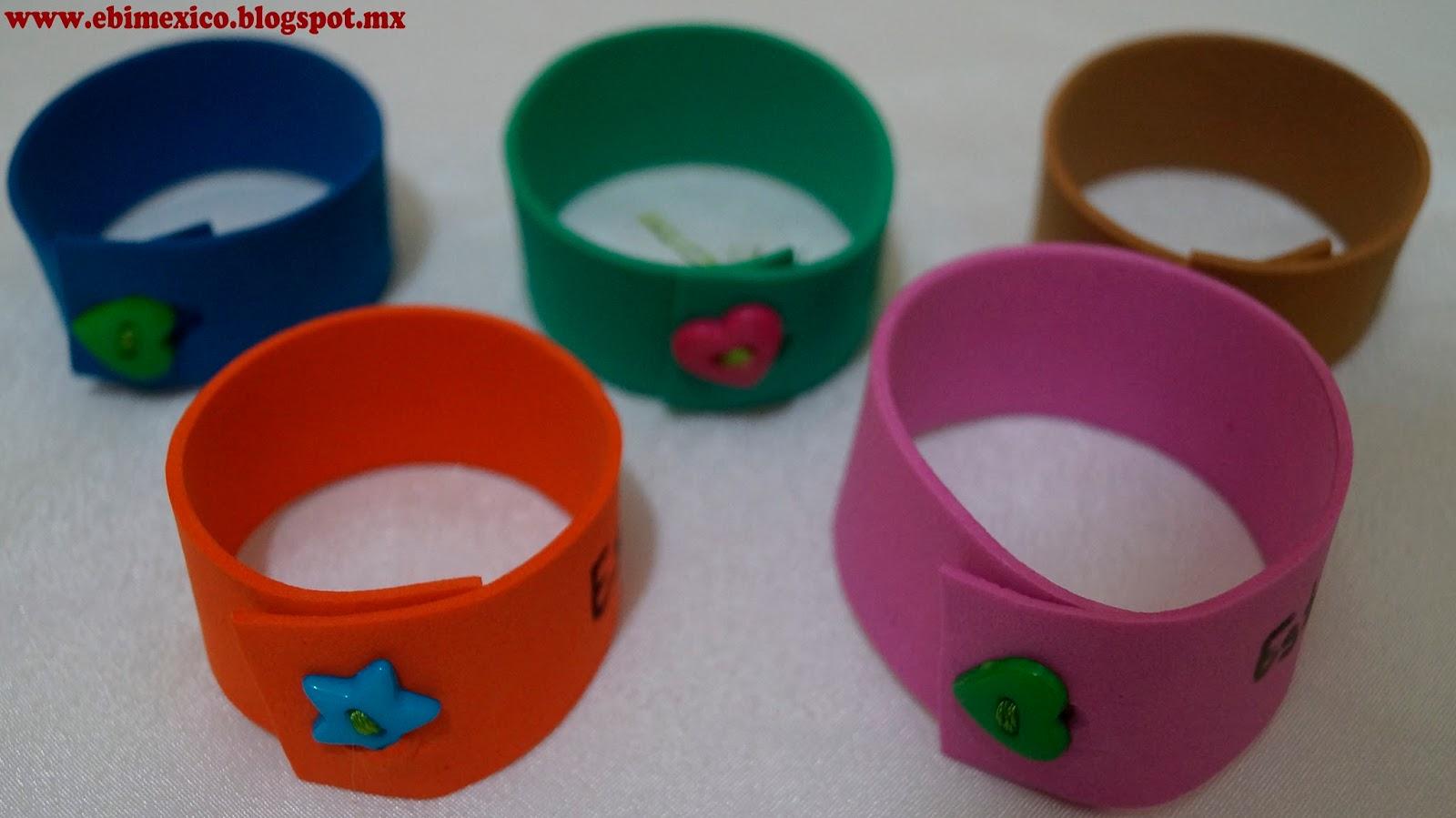 Pin pulseras de foami on pinterest for Como hacer pulseras de goma eva