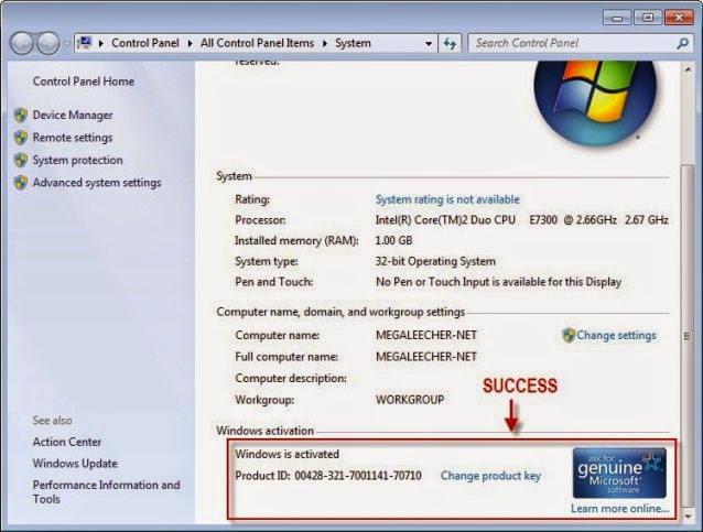 win 7 activation crack free download
