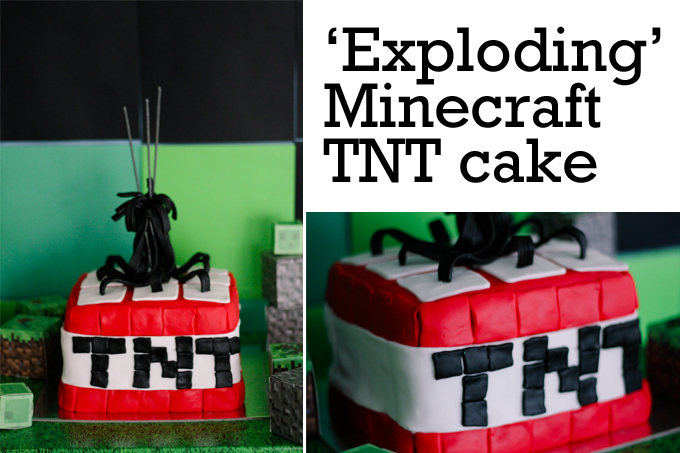 Minecraft party cake