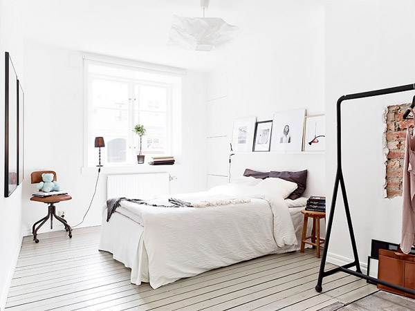Scandinavian style white bedroom interior design ideas for Chambre 8x10