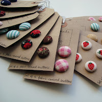 fabric button collection handmade by emily vintage folksy