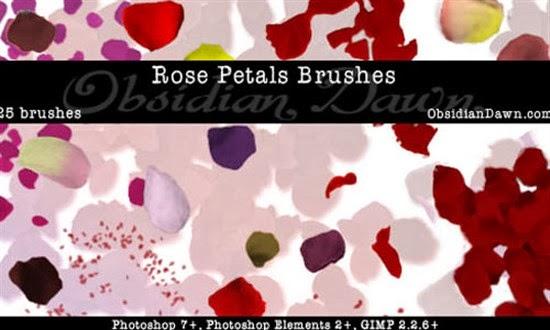 Photoshop Rose Petal Brushes