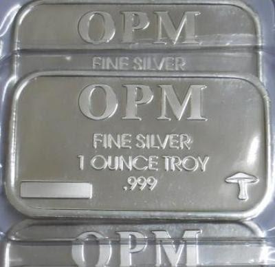 Sunan Ilver 1oz Ohio Precious Metals 999 Fine Silver Bar