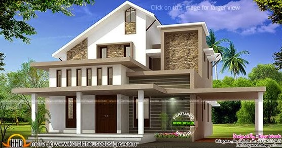 Low Budget Semi Contemperory Home Kerala Home Design And