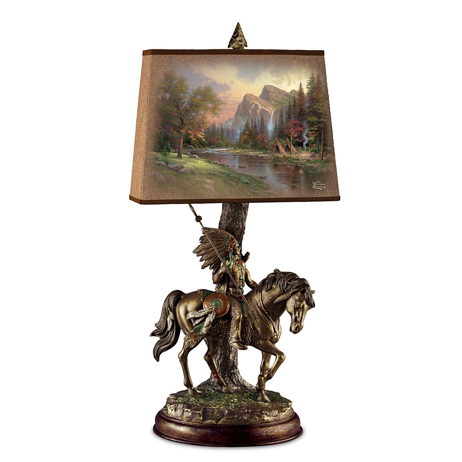 Southwestern native american lamps lighting from earth sky native american indian southwestern sculpture table lamp by thomas kinkade aloadofball Image collections