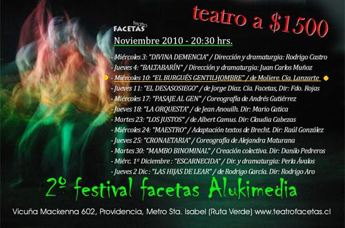 "Festival ""ALUKIMEDIA"" Teatro Facetas.Stgo."