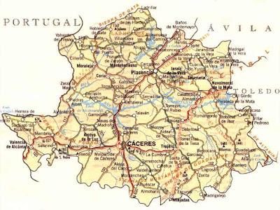 Cáceres Mapa Ciudad de la Región