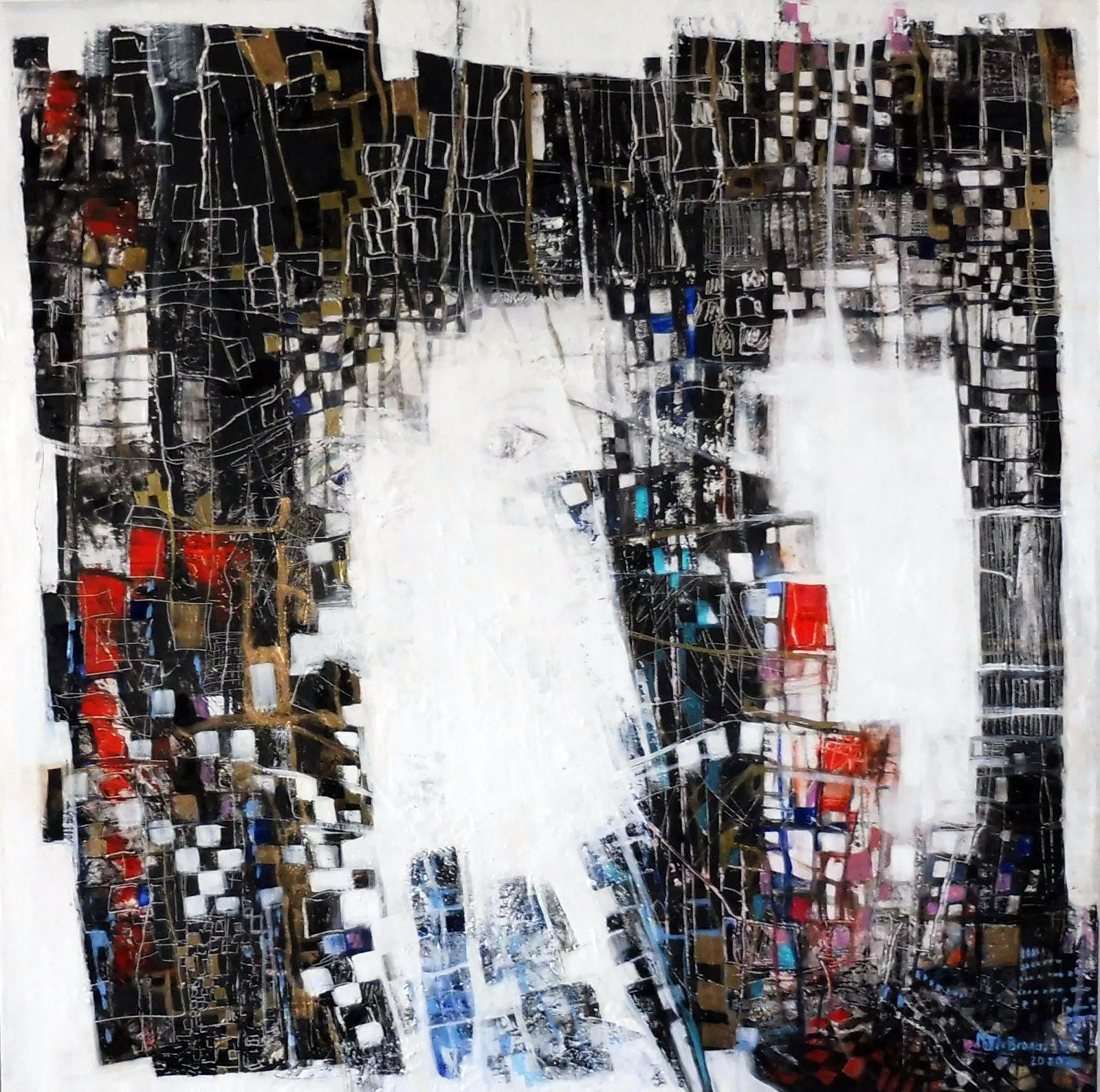 Dialogues dans l'invisible - 80 x 80 cm - 2020