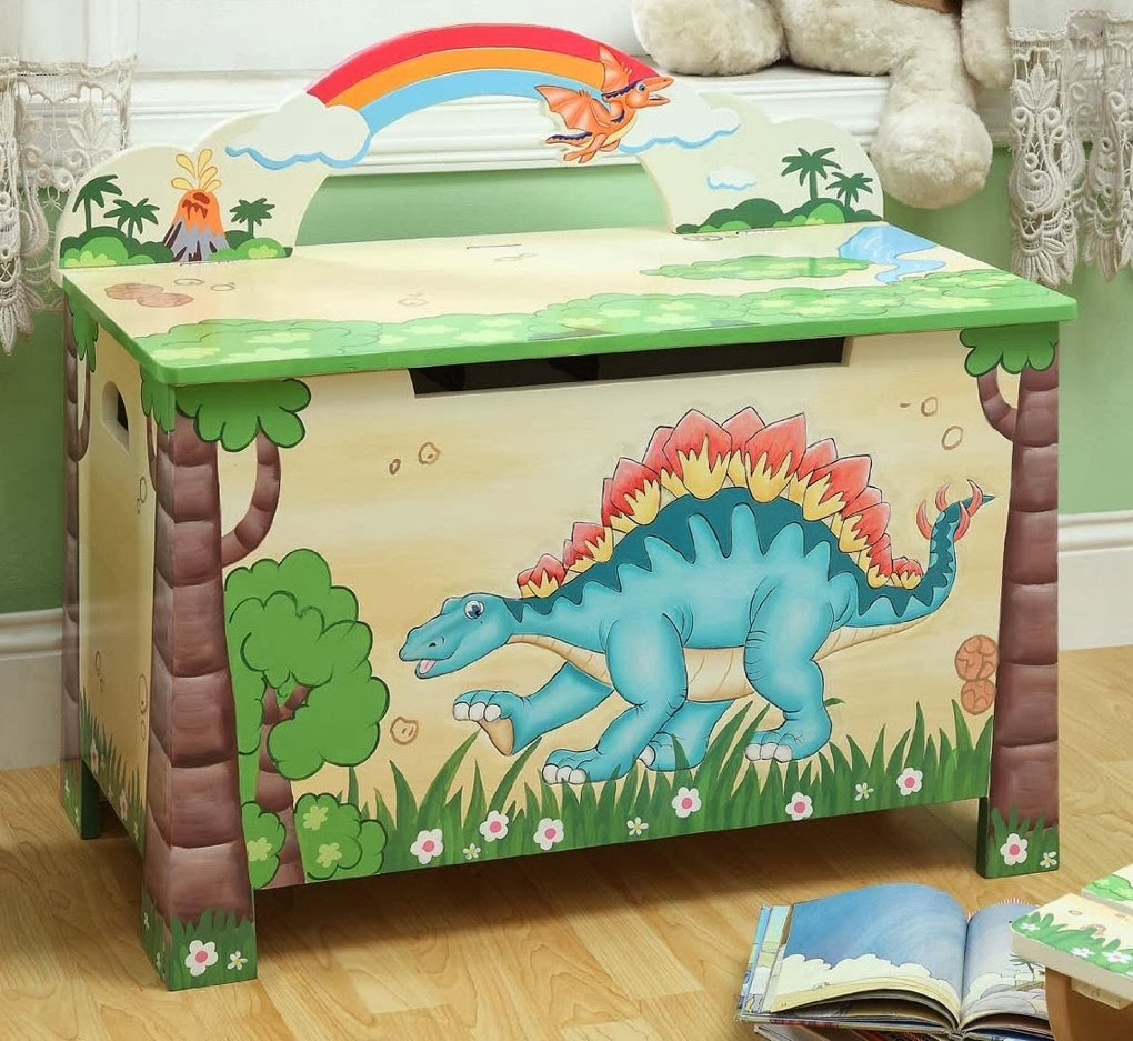 Teamson Kids Dinosaur Toy Box