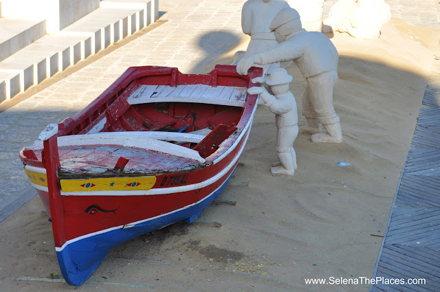 Boat Old Town Albufeira Algarve Portugal