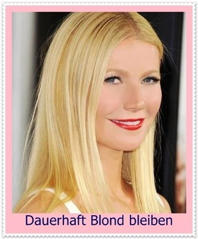 Dauerhaft Blond bleiben