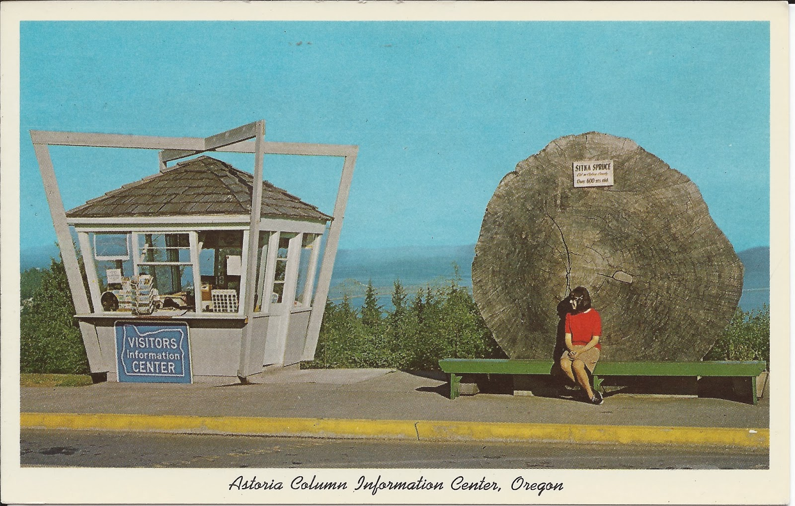 Astoria Column Information Center, Oregon Postcard