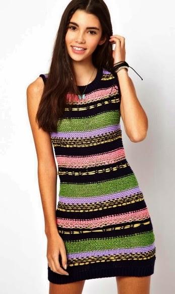 kolorowe welny w sukience