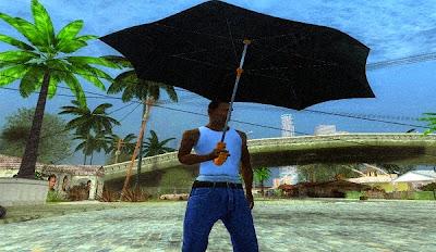 Mod Membuka Payung Saat Hujan