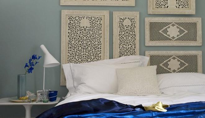 Marzua un cabecero de cama con laminas enmarcadas - Ideas para hacer un cabezal de cama ...