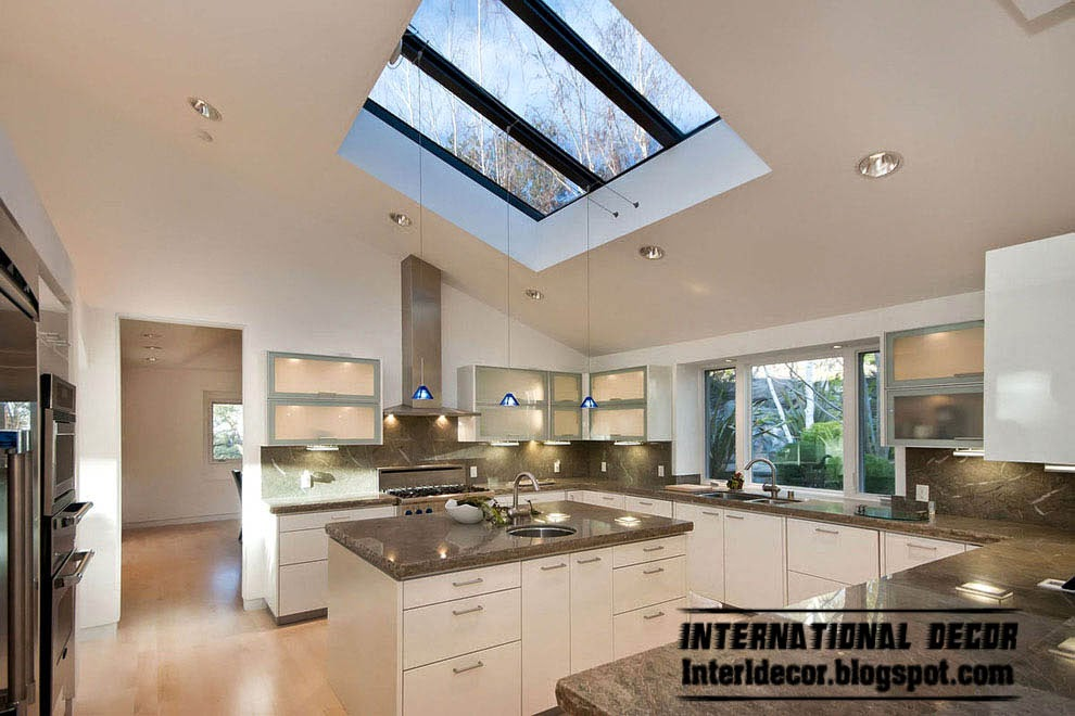 New designs of skylights and roof windows for kitchen
