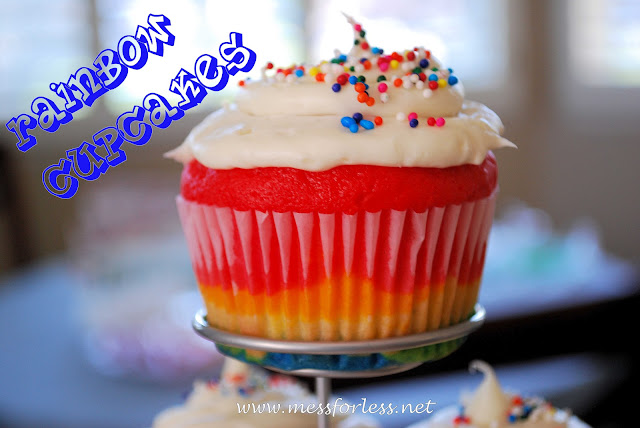 rainbow cupcakes, rainbow party, birthday cupcakes