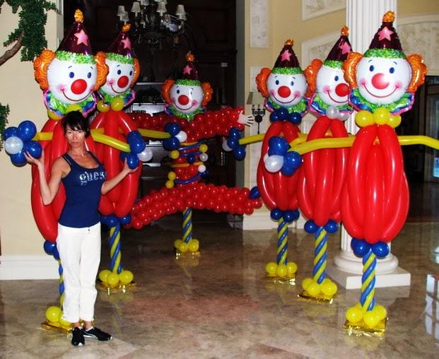 Decoracion de Fiestas Infantiles con Payasos, parte 2