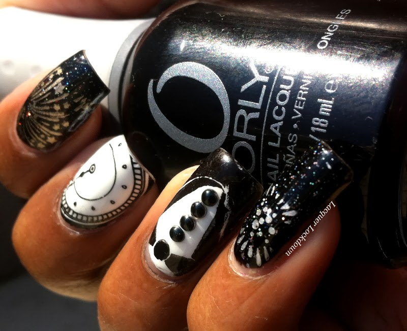Lacquer Lockdown: New Year\'s Nail Art!