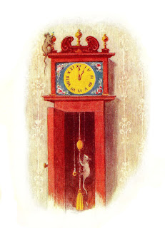 mouse clock clip art nursery rhyme