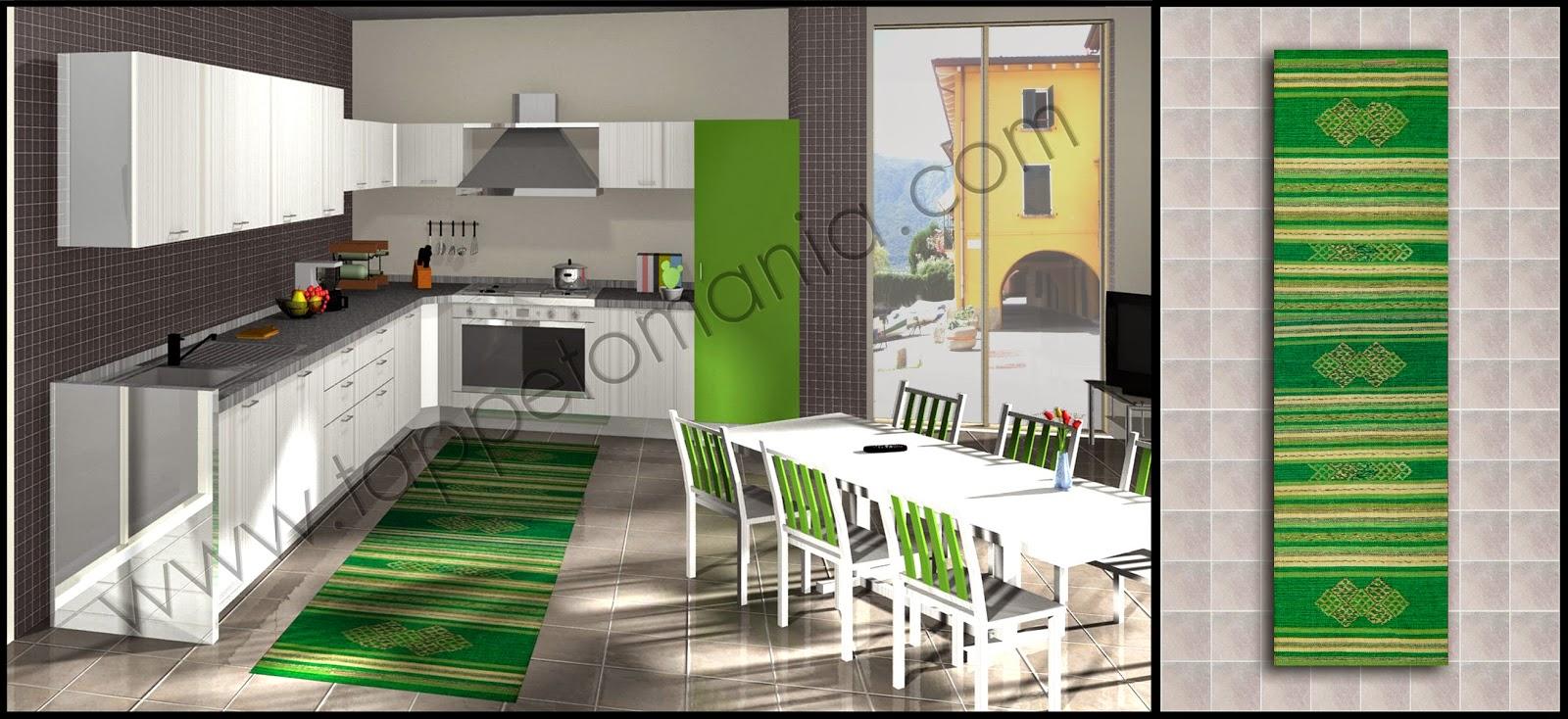 Tappeti per la cucina antiscivolo tappetomania su ebay for Tappeti casa classica
