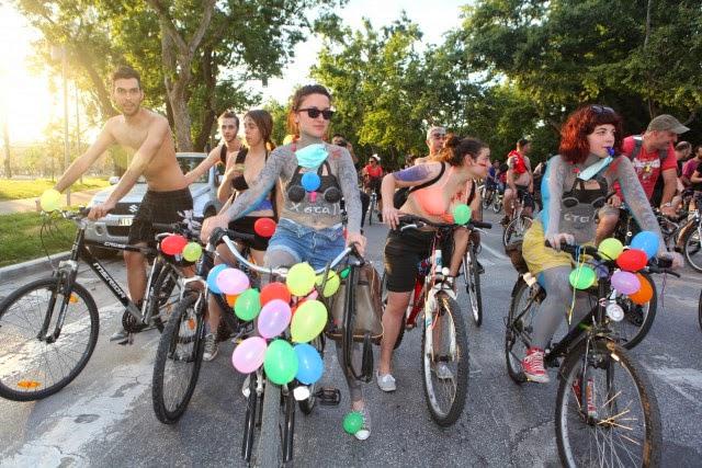 7η γυμνή ποδηλατοδρομία στη Θεσσαλονίκη.