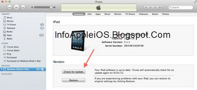 Update iOS iTunes