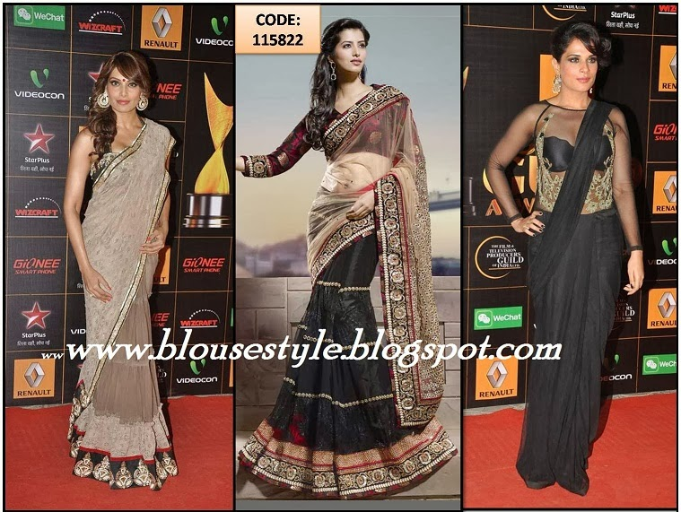 Bollywood actress BLACK WITH GRAY COLOUR SARI PHOTOS