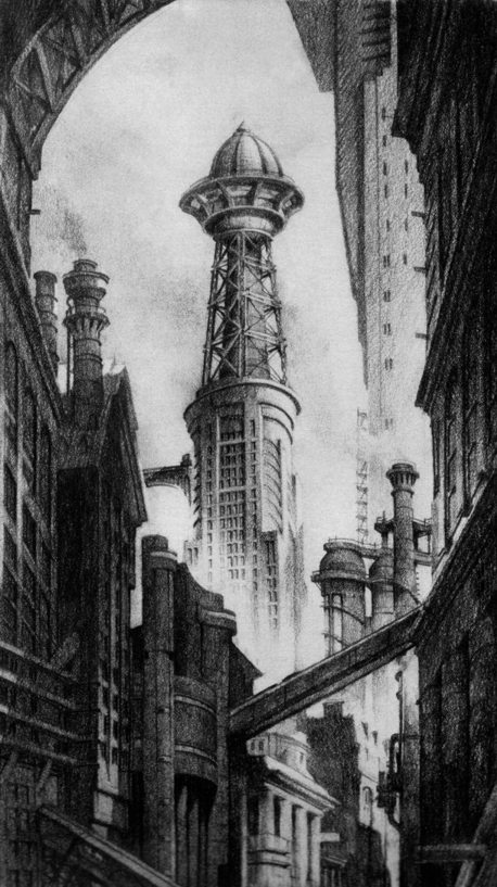 Anton Furst. Old Gotham City. Doctor Ojiplatico