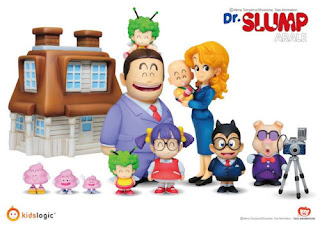 Dr Slump Arale, Kids Logic AR01 Home Version Mini Figure Set (Full set of 7)