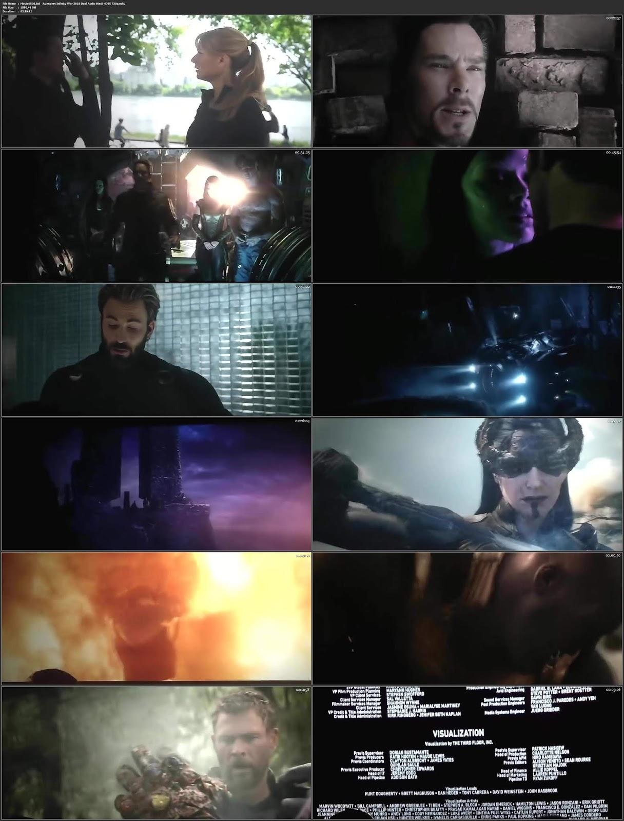 Avengers Infinity War 2018 Dual Audio Hindi Clean Audio HDTSRip 720p at ocdisplay.com