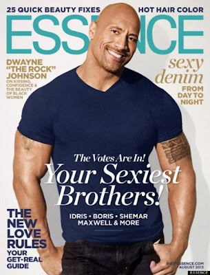 The Rock on Cover of Essence Magazine