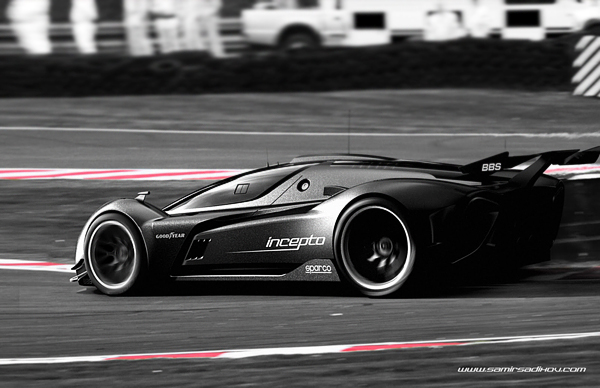 Stunning Incepto GT: Black Elegant Concept Car designed Seen On www.coolpicturegallery.us