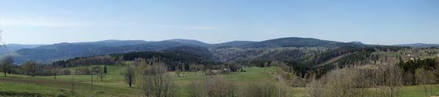 Blick von der Stefanshöhe in Richtung Siechhübel, Isergebirge