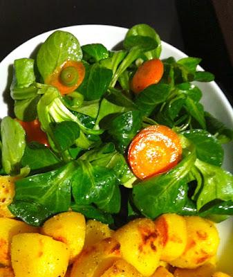 Wintersalat - Feldsalat mit Kartoffen