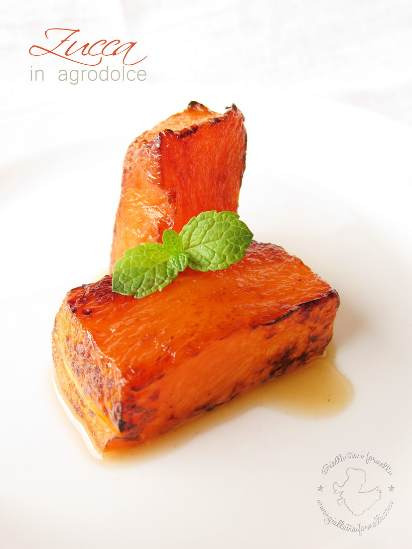 Microwave sweet and sour pumpkin - Zucca in agrodolce al microonde