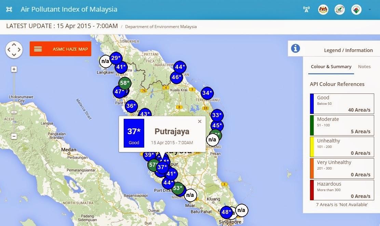 Status Terkini Indeks Pencemaran Udara (IPU)