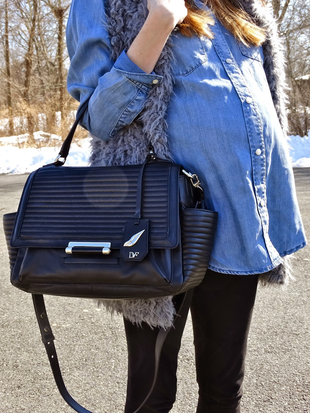 DVF 440 Courier Rail Quilted Bag, as worn by New Jersey fashion blogger House Of Jeffers | www.houseofjeffers.com