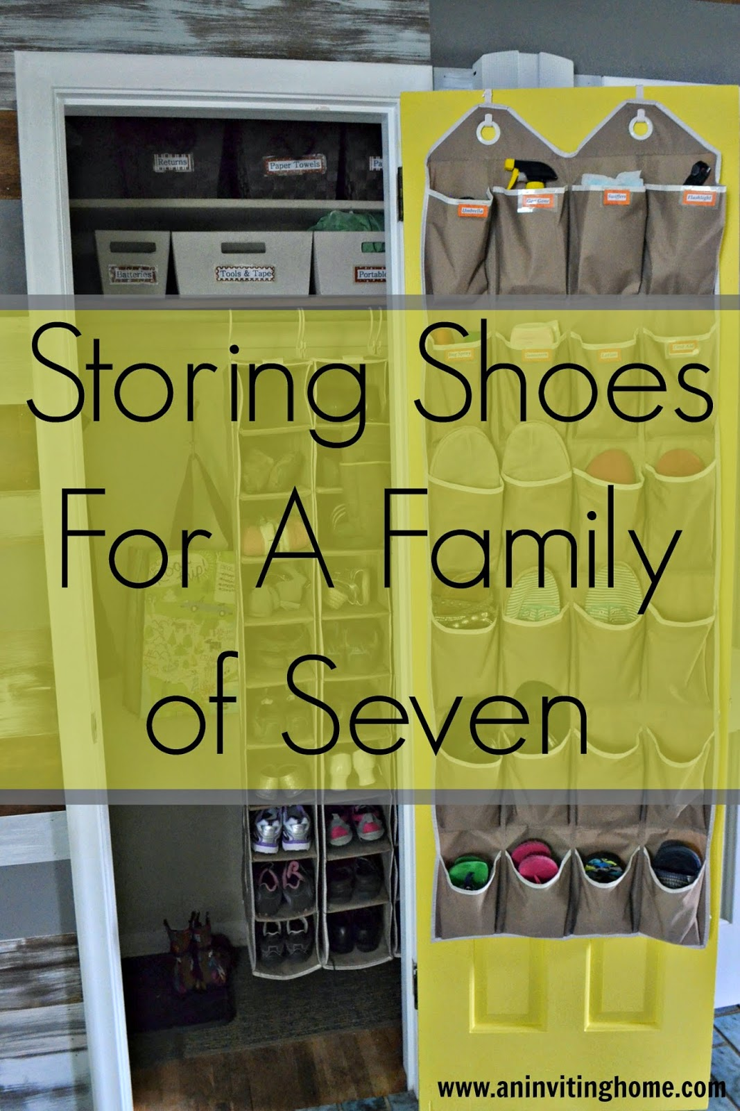 Storing Shoes For A Family of Seven