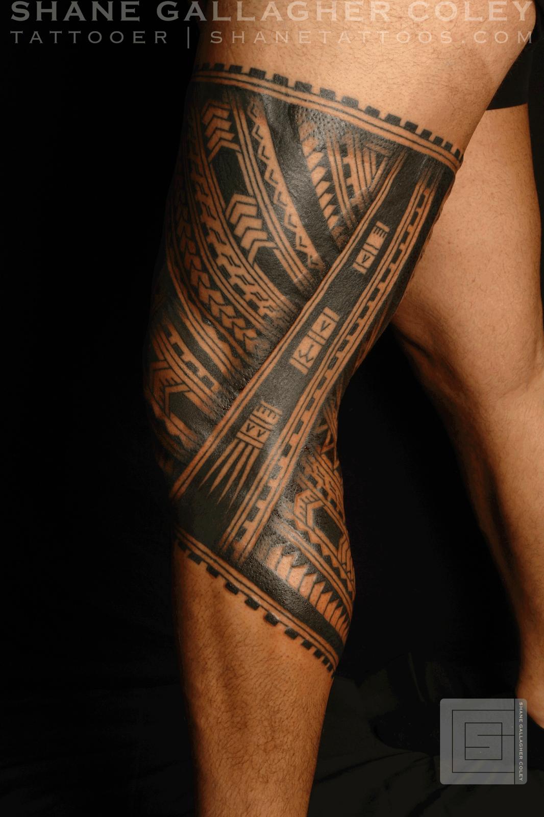 3d Tattoo Leg 3d leg tattoo real maori