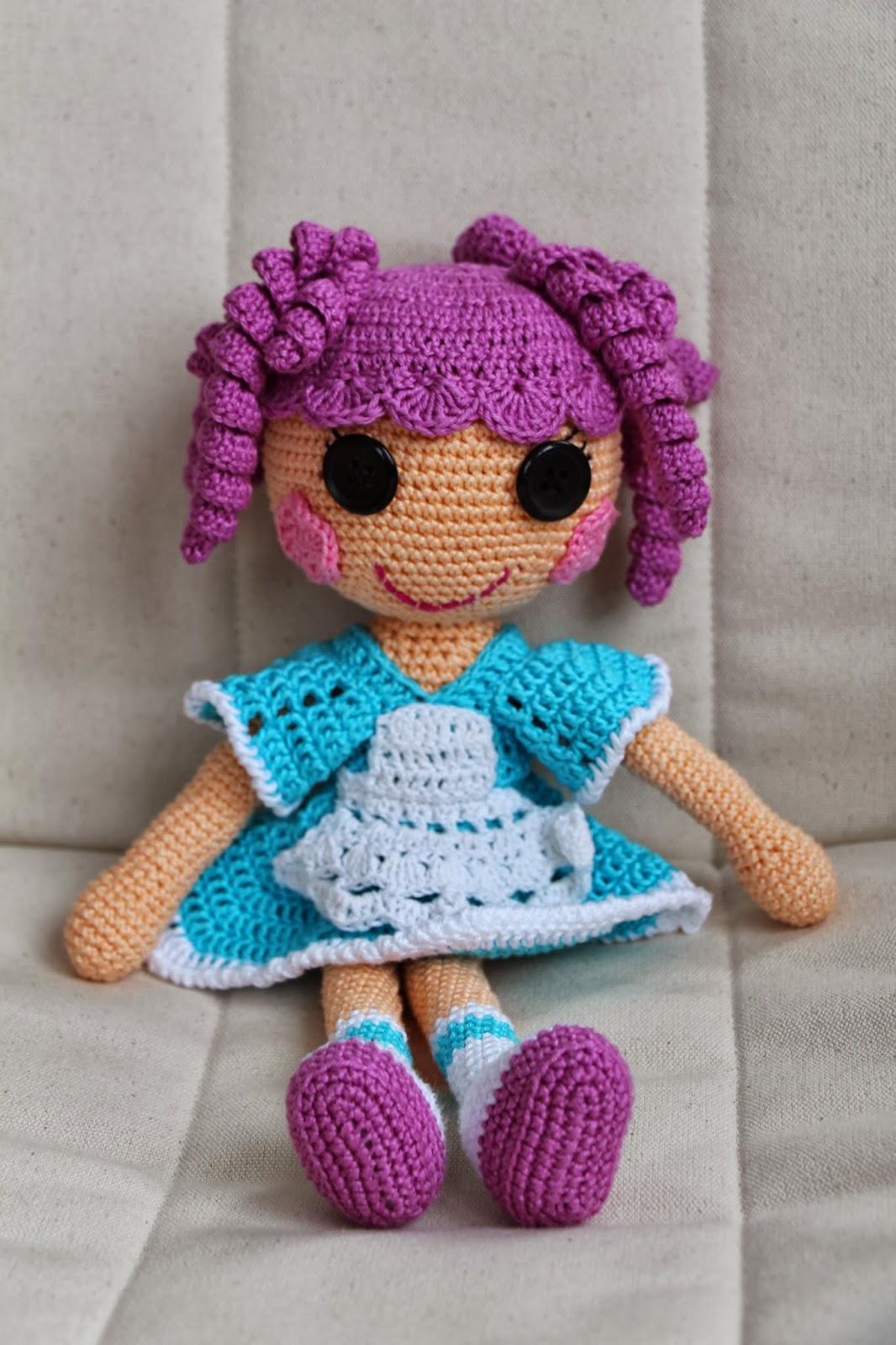 Вязаная кукла Lalaloopsy: подробная схема и описание