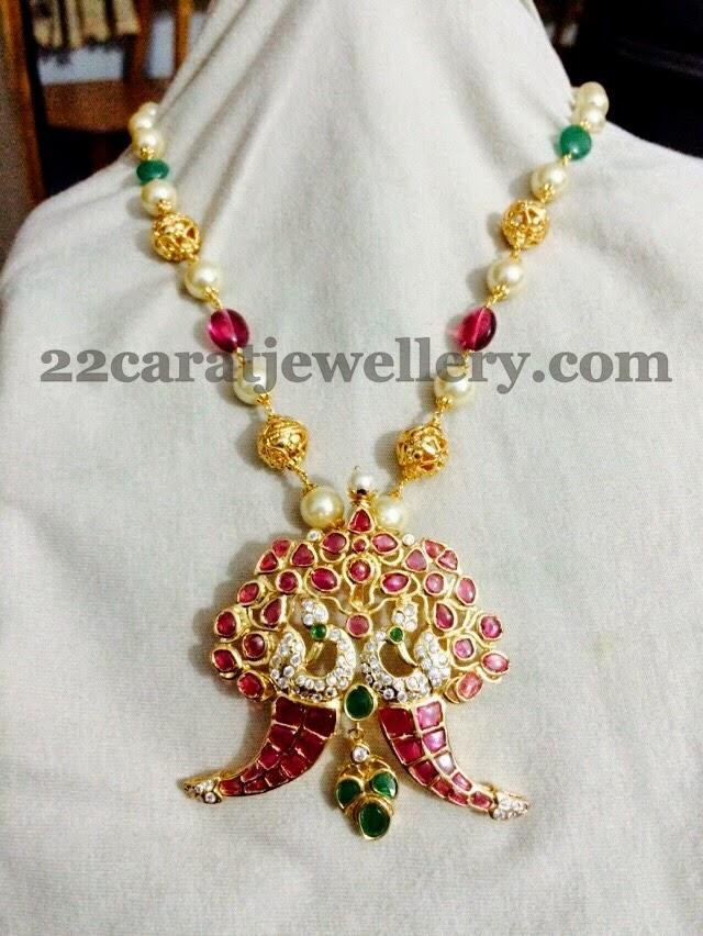Imitation temple pendants with rubies jewellery designs imitation temple pendants with rubies mozeypictures Choice Image