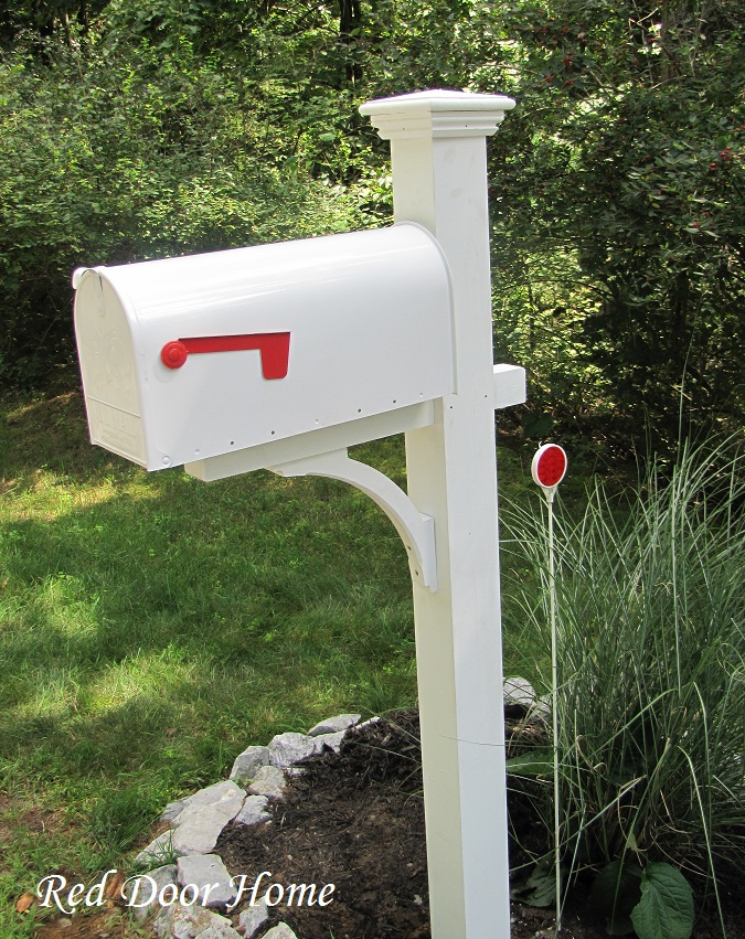 The gallery for double mailbox designs for Mailbox post ideas
