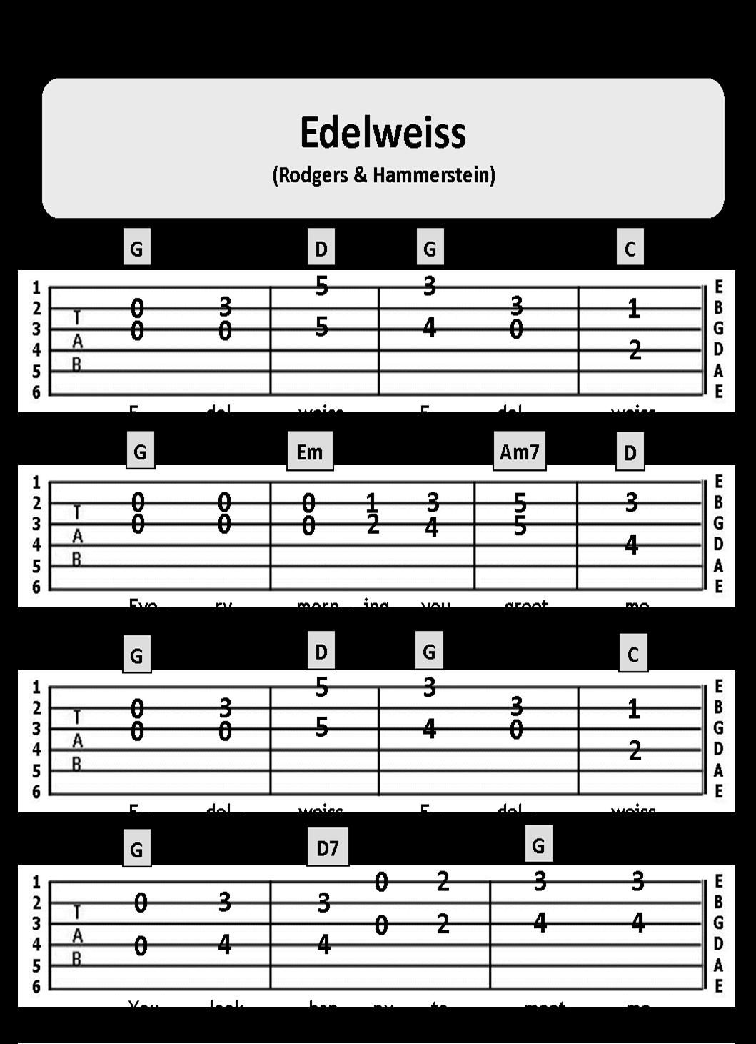 Edelweiss Chords