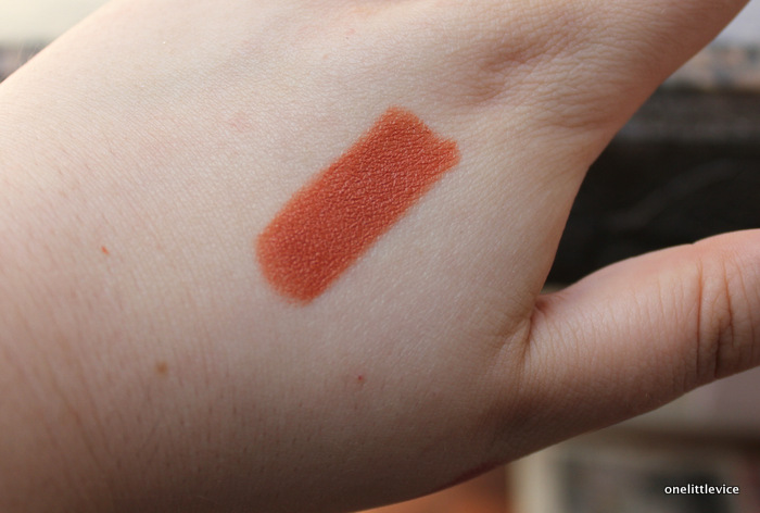 one little vice beauty blog: natural vegan cruelty free lipstick orange shade