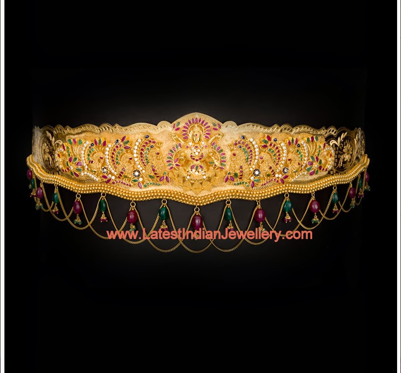 Latest Gold Vaddanam Design