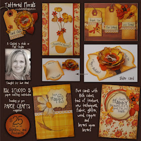 Tattered Floral Card Class