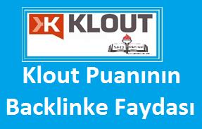 Klout Puanının Backlinke Faydası