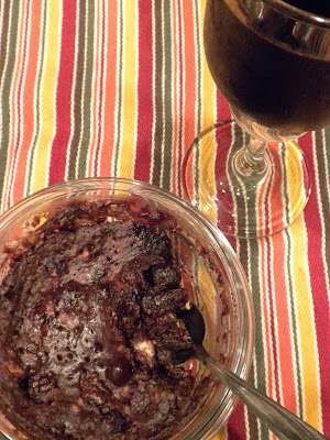 Personal Size Gluten-Free Berry Brownie in a Bowl by Substance of Living