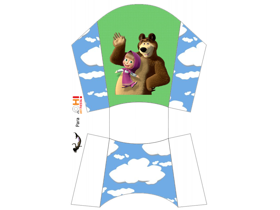 Free Printable Masha And The Bear Party | allpsd.net
